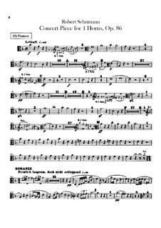 Концертная пьеса для четырёх валторн с оркестром, Op.86: Партии тромбонов by Роберт Шуман