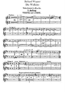 Валькирия, WWV 86b: Партии туб by Рихард Вагнер