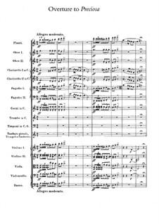 Прециоза, J.279 Op.78: Увертюра by Карл Мария фон Вебер