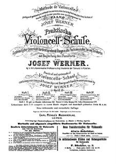Практическая школа игры на виолончели с аккомпанементом фортепиано, Op.12: Книга II by Йозеф Вернер