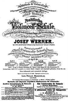 Практическая школа игры на виолончели с аккомпанементом фортепиано, Op.12: Книга III by Йозеф Вернер