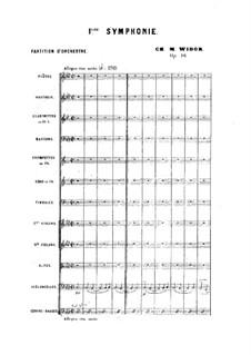 Симфония No.1 фа минор, Op.16: Симфония No.1 фа минор by Шарль Мари Видор