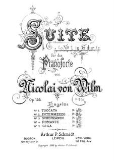 Сюита No.1 для фортепиано. Интермеццо, Op.155 No.2: Сюита No.1 для фортепиано. Интермеццо by Николай фон Вильм