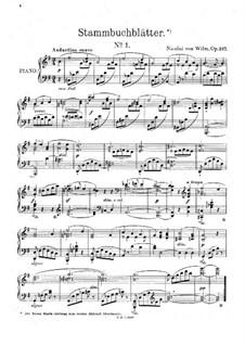 Pedigree Leaves, Op.217: Pedigree Leaves by Николай фон Вильм