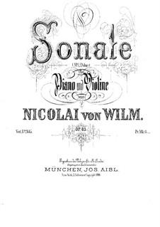 Соната для скрипки и фортепиано No.1, Op.83: Сольная партия by Николай фон Вильм