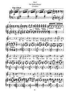 Песни на стихи Гёте: Крысолов by Хуго Вольф