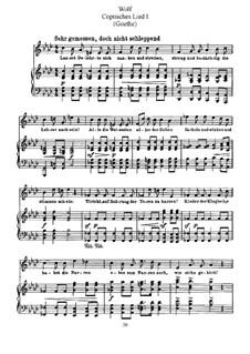 Песни на стихи Гёте: Coptisches Lied I (Let the Learned Men Squabble and Bicker) by Хуго Вольф
