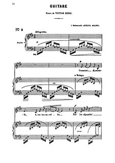 Guitare: Для голоса и фортепиано by Камиль Сен-Санс