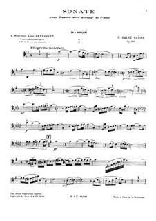 Соната для фагота и фортепиано соль мажор, Op.168: Сольная партия by Камиль Сен-Санс