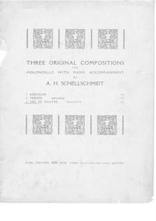 Pas de quatre. Gavotte for Cello and Piano: Pas de quatre. Gavotte for Cello and Piano by A.H. Schellschmidt