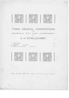 Pensée for Cello and Piano: Pensée for Cello and Piano by A.H. Schellschmidt