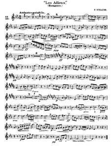 Les Adieux for French Horn and Piano: Сольная партия by Франц Штраус