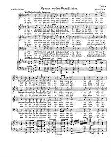 Hymne an den Unendlichen (Hymn to the Infinite), D.232 Op.112 No.3: Hymne an den Unendlichen (Hymn to the Infinite) by Франц Шуберт