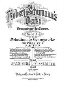 Испанские любовные песни, Op.138: Сборник by Роберт Шуман