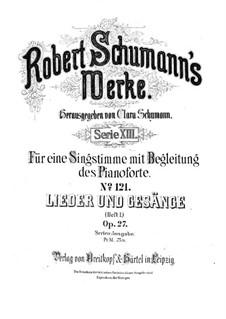 Песни и романсы, Op.27: Сборник by Роберт Шуман