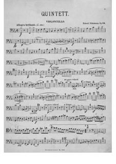 Фортепианный квинтет ми-бемоль мажор, Op.44: Партия виолончели by Роберт Шуман