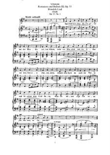 Романсы и баллады, Op.53: Клавир с вокальной партией (немецкий текст) by Роберт Шуман