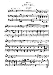 Песни и романсы, Op.77: Сборник by Роберт Шуман