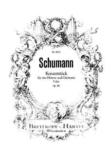 Концертная пьеса для четырёх валторн с оркестром, Op.86: Партитура by Роберт Шуман