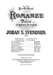 Романс, Op.26: Сольная партия by Юхан Свенсен