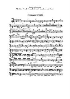В лесах и лугах Богемии, T.114: Партии труб by Бедржих Сметана