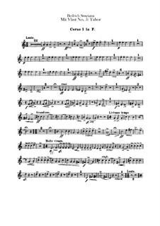 Табор, T.120: Партии первой и второй валторн by Бедржих Сметана