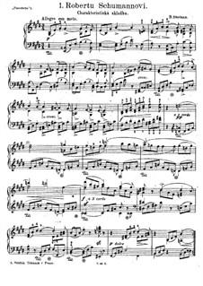 Три листка из альбома, B.100 T.67 Op.3: No.1 To Robert Schumann by Бедржих Сметана
