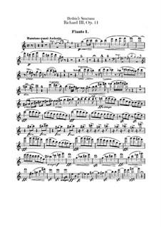 Ричард III, B.106 T.74 Op.11: Партии флейт by Бедржих Сметана