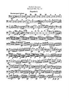 Ричард III, B.106 T.74 Op.11: Партии фаготов by Бедржих Сметана