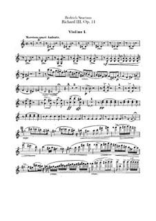 Ричард III, B.106 T.74 Op.11: Скрипка I by Бедржих Сметана