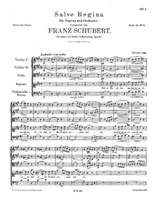 Salve Regina, D.676 Op.153: Salve regina by Франц Шуберт