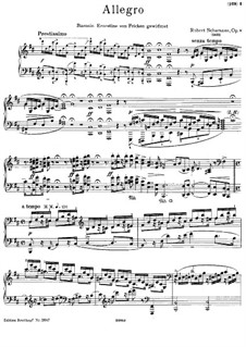Аллегро си минор, Op.8: Для фортепиано by Роберт Шуман
