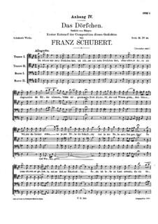 Das Dörfchen (The Village), D.641 Op.11 No.1: Das Dörfchen (The Village) by Франц Шуберт