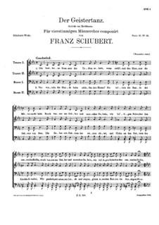Der Geistertanz (The Ghost Dance), D.494: Для мужского хора by Франц Шуберт