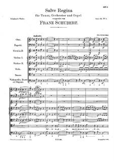 Salve Regina, D.106: Salve regina by Франц Шуберт