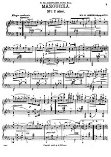 Мазурка No.1 до минор, Op.6: Мазурка No.1 до минор by William H. Sherwood