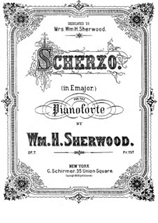 Скерцо для фортепиано, Op.7: Скерцо для фортепиано by William H. Sherwood