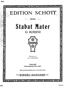 Фантазия на темы из 'Stabat Mater' Россини, Op.134: Сольная партия by Жан Батист Сенжеле