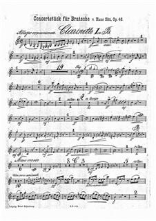 Концертная пьеса соль минор, Op.46: Партии кларнетов by Ганс Зитт