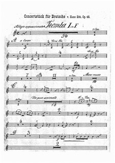 Концертная пьеса соль минор, Op.46: Партии труб by Ганс Зитт