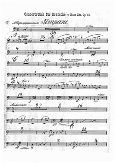 Концертная пьеса соль минор, Op.46: Партия литавр by Ганс Зитт