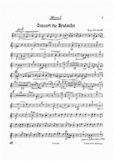 Концерт для альта с оркестром ля минор, Op.68: Партии валторн by Ганс Зитт