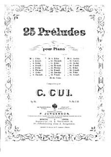 Двадцать пять прелюдий, Op.64: Прелюдия No.1 by Цезарь Кюи