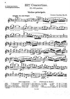 Концертино для скрипки и фортепиано No.3 ре мажор, Op.65: Сольная партия by Гюстав Сереми