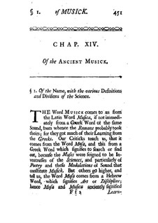 A Treatise of Musick: Chapters XIV by Alexander Malcolm