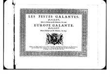 Галантная Европа: Taille part by Андре Кампра