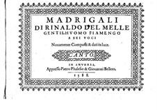Мадригалы для шести голосов: Партии by Rinaldo del Mel