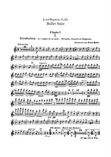 Балетная сюита: Партии флейт by Жан-Батист Люлли
