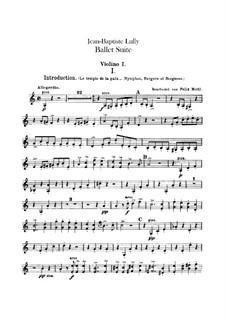 Балетная сюита: Скрипка I by Жан-Батист Люлли