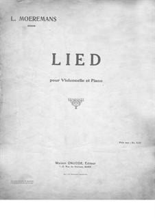 Песня для виолончели и фортепиано: Песня для виолончели и фортепиано by Leo Moeremans